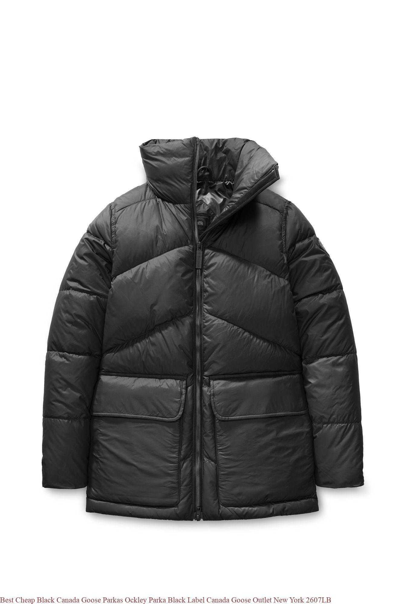 5d16b554b65 Best Cheap Black Canada Goose Parkas Ockley Parka Black Label Canada Goose  Outlet New York 2607LB