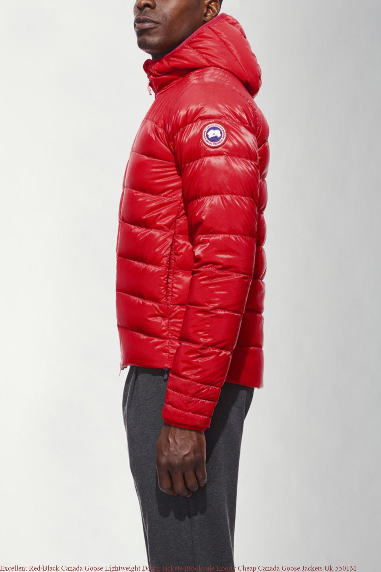 f9651d8b51a Excellent Red/Black Canada Goose Lightweight Down Jackets Brookvale Hoody  Cheap Canada Goose Jackets Uk 5501M