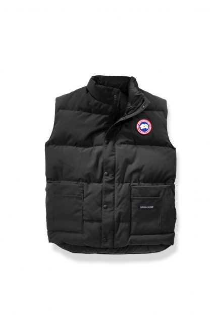 84f07bf0e1e4 Flawless Black Canada Goose Vests Freestyle Vest Canada Goose Outlet New  York City 4150M