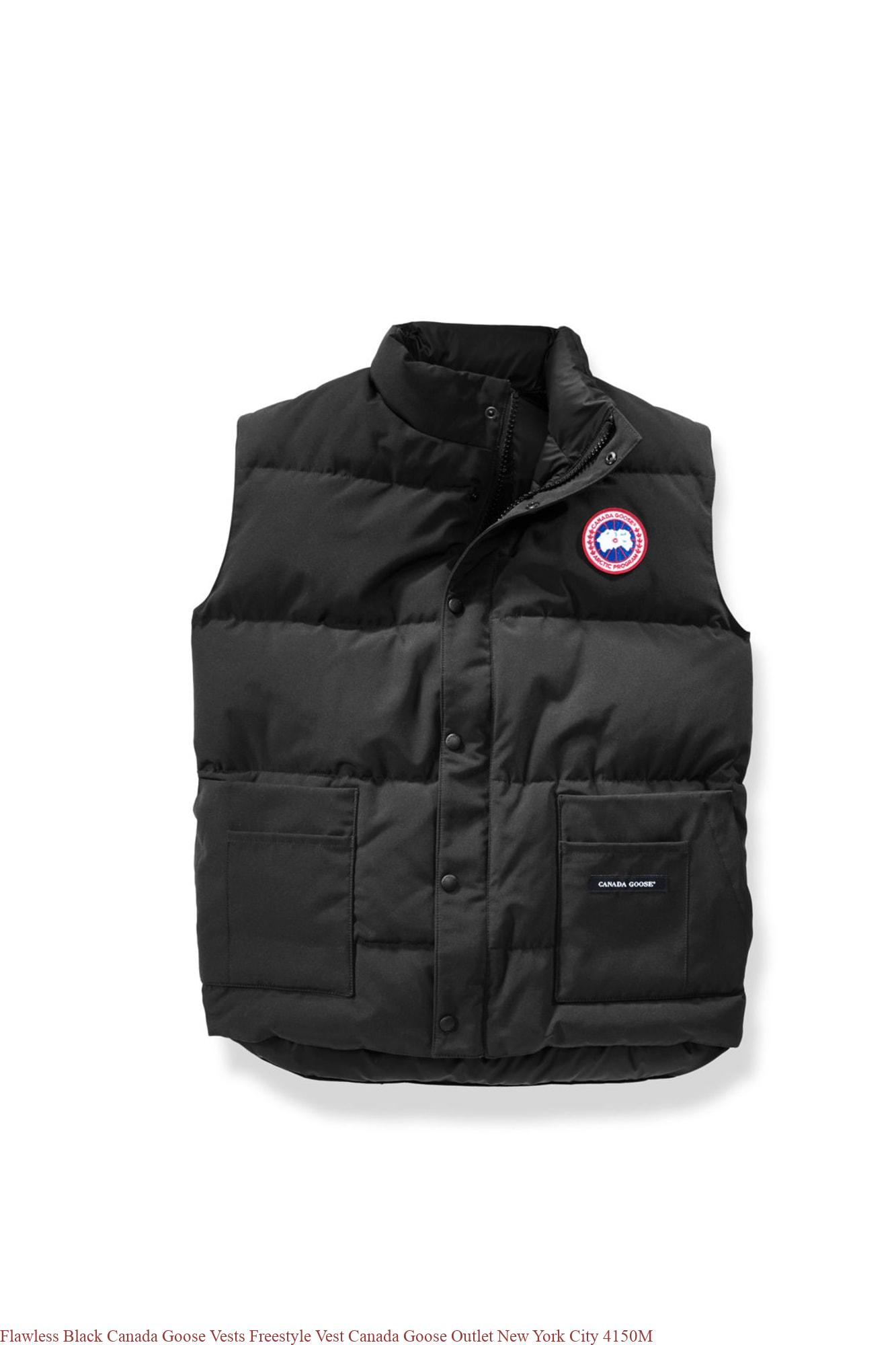 9c8f61fcdcc Flawless Black Canada Goose Vests Freestyle Vest Canada Goose Outlet New  York City 4150M